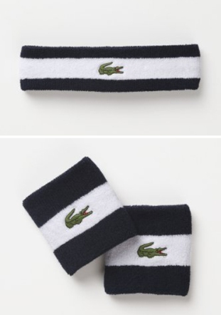For when he's sweating it out on the field or court. Tennis wristband ($12) and headband ($12) by Lacoste, lacoste.com