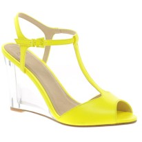 NEON| ASOS HOOP Heeled Wedges, $76, available at ASOS.com