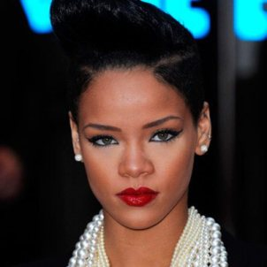Rihanna Red Lipstick